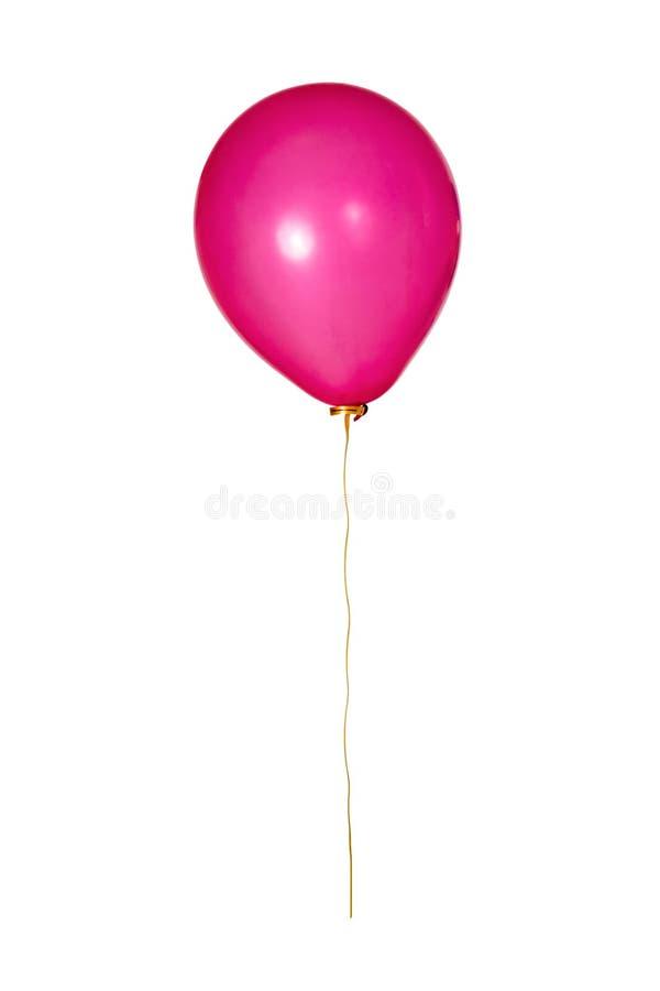 Ballon rouge avec le ruban jaune photo libre de droits
