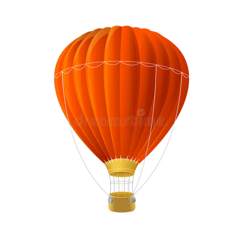 Ballon rouge d'air de vecteur d'isolement sur le blanc illustration libre de droits