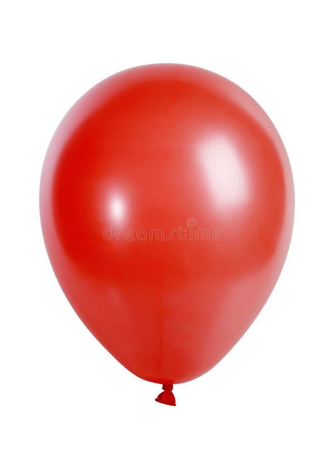 Ballon rouge d'isolement sur le blanc image libre de droits