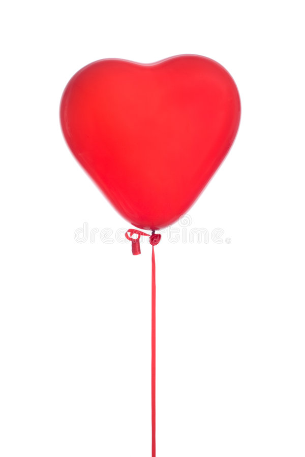 Ballon rouge de coeur image stock
