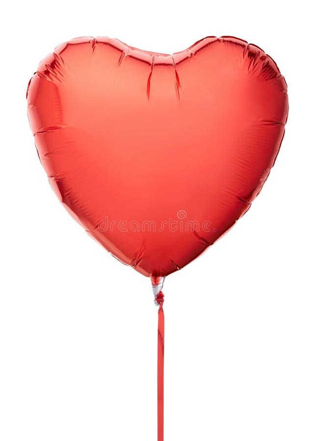 Ballon rouge de coeur images stock