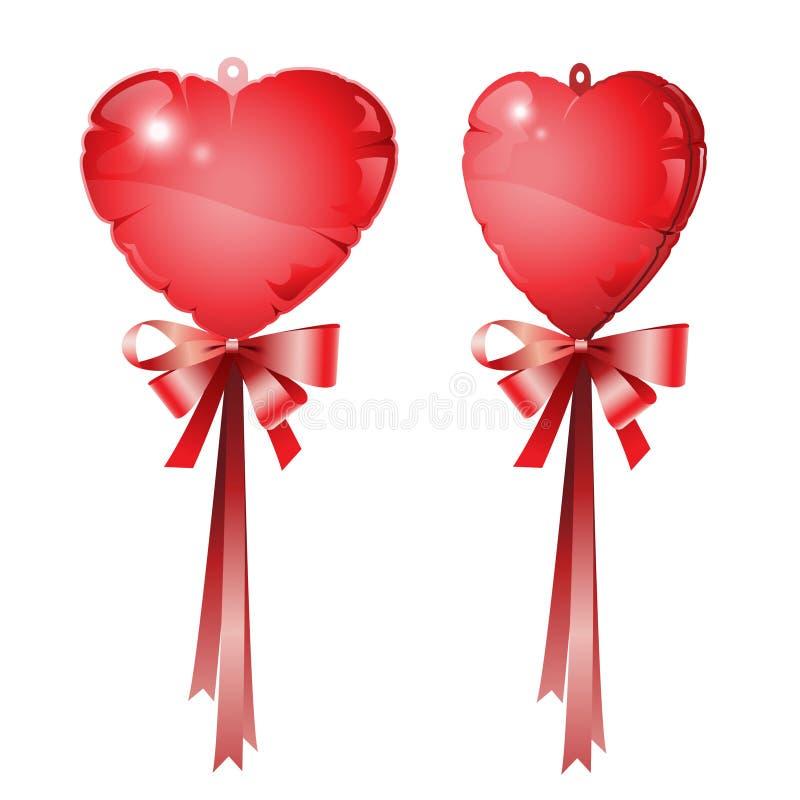 Ballon rouge de coeur images libres de droits