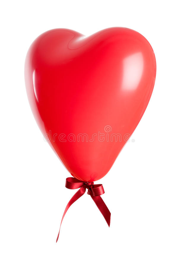 Ballon en forme de coeur d'isolement photo stock