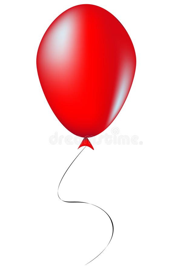 Ballon rouge - illustration images libres de droits
