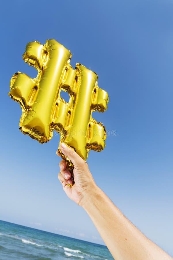 Ballon sous forme de symbole de gâchis photos libres de droits