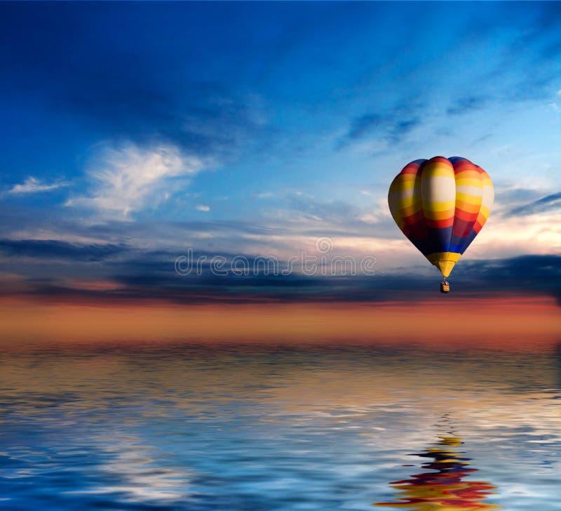 Ballon in Sunset royalty free stock photo