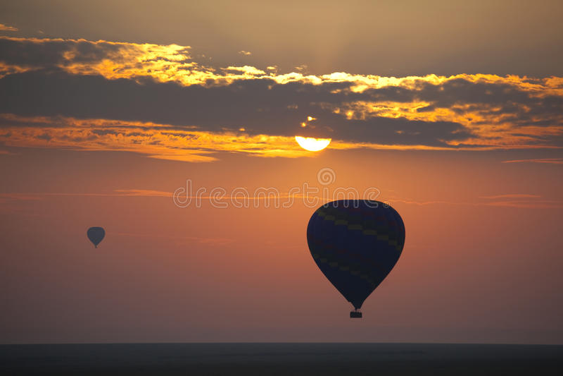 Ballon in Sunsrise 8821 royalty-vrije stock foto's