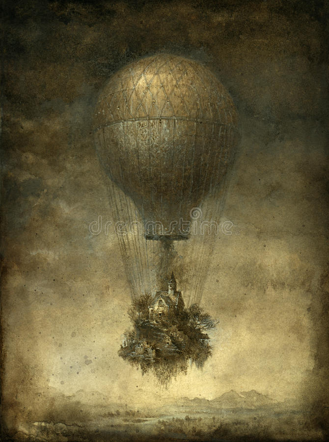 Ballon surréaliste illustration libre de droits