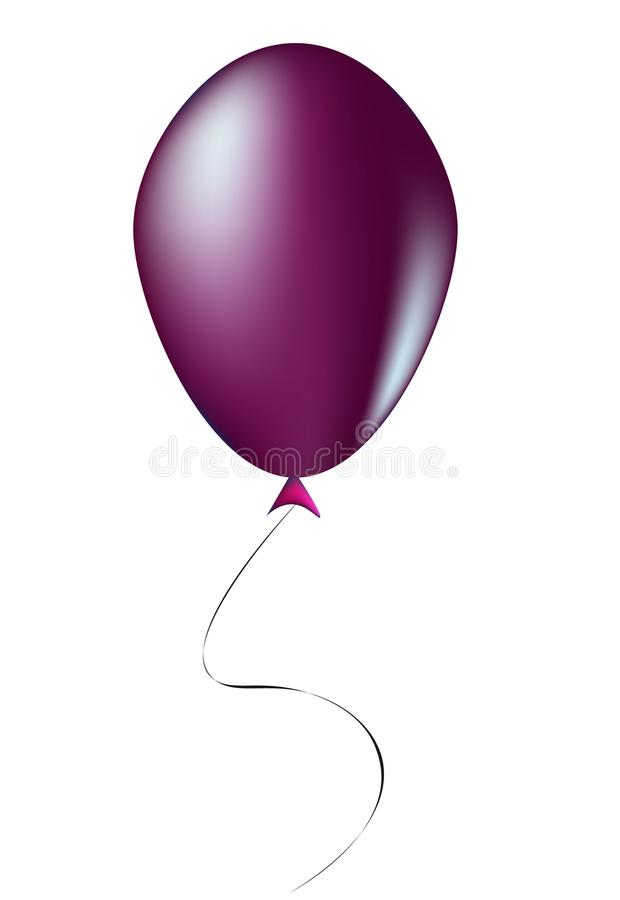 Ballon violet - illustration images libres de droits