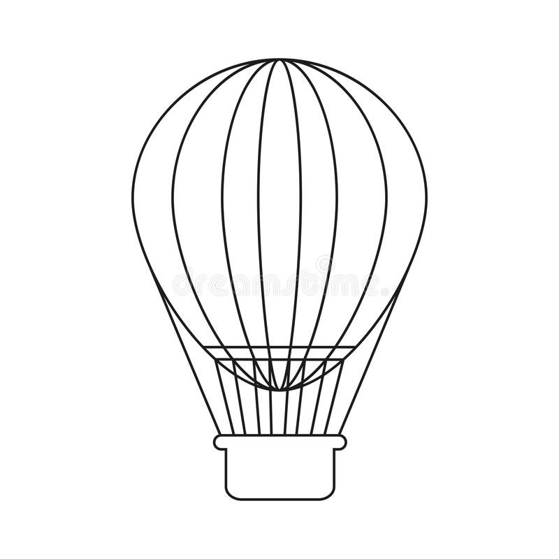 Ballon wakacje ikona ilustracji