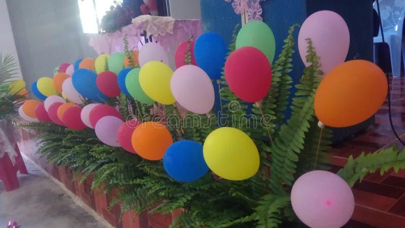 Ballondecoratie royalty-vrije stock afbeelding