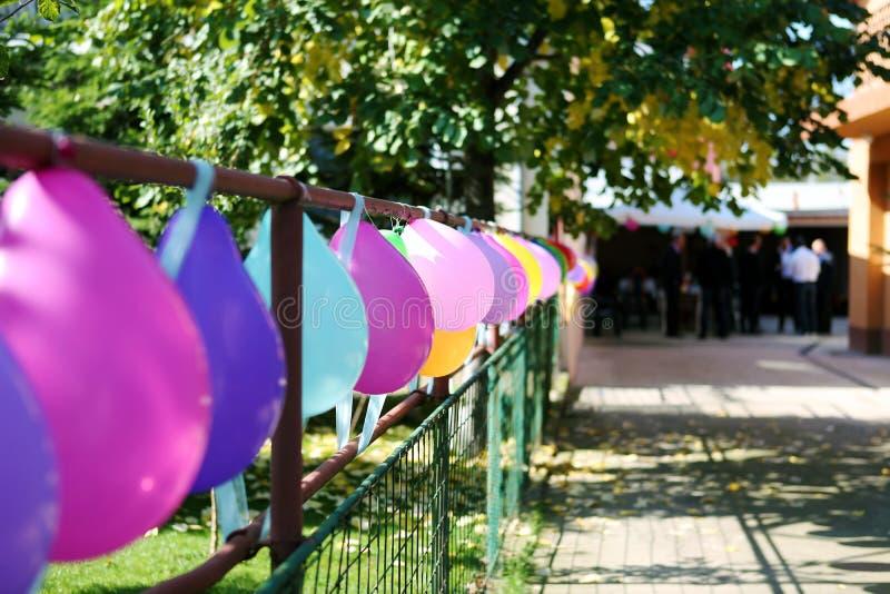 Ballone für die Heirat stockfotografie