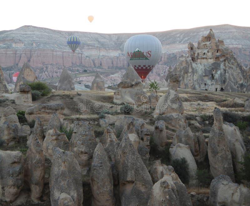 Ballone in Goreme die Türkei lizenzfreies stockfoto