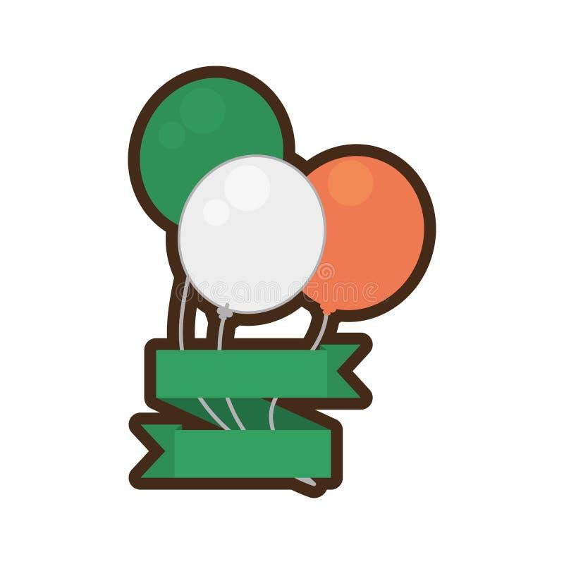 Ballone kennzeichnen irischen Bandst.-patricks Tag vektor abbildung