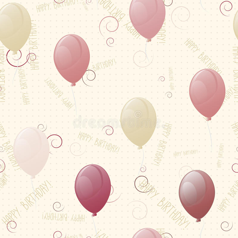 Ballone, nahtlose Beschaffenheit alles Gute zum Geburtstag vektor abbildung
