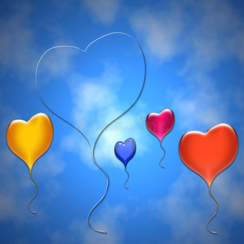 ballone serca ilustracji