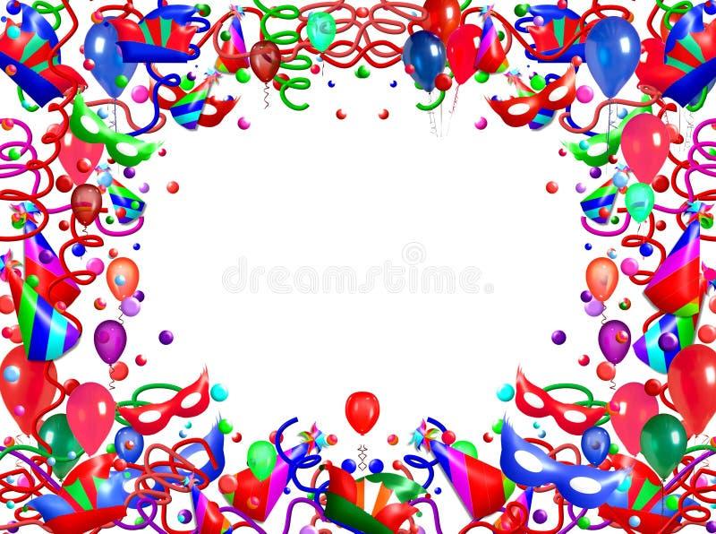 Ballone und Ausläufer lizenzfreie abbildung