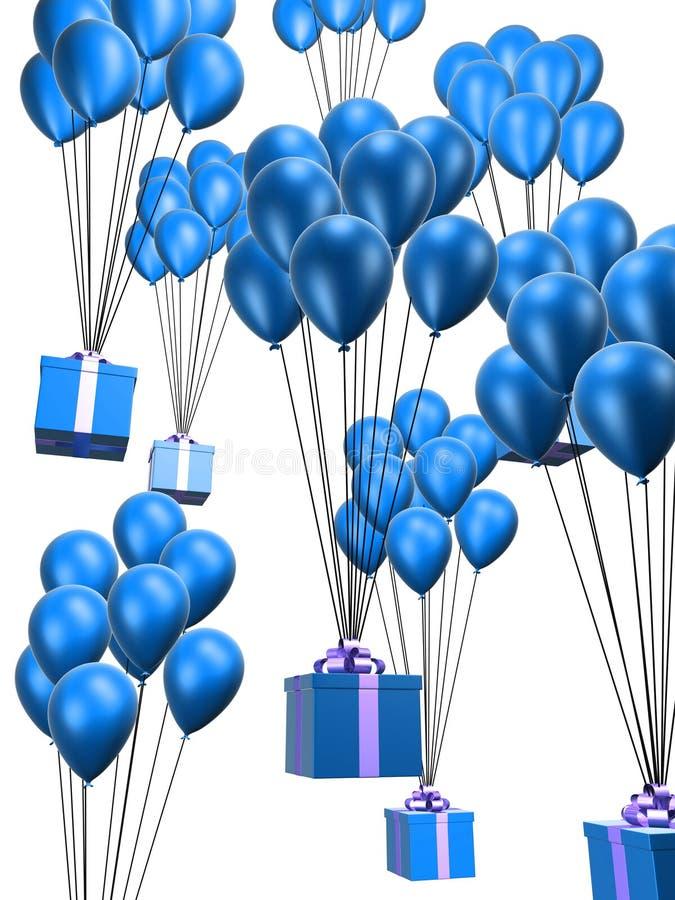 Ballone und Geschenke stock abbildung