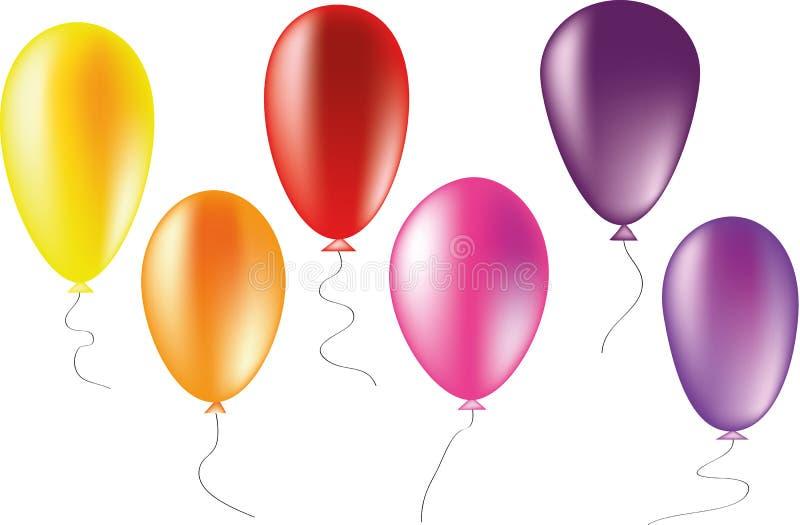 Ballone wärmen Farben vektor abbildung
