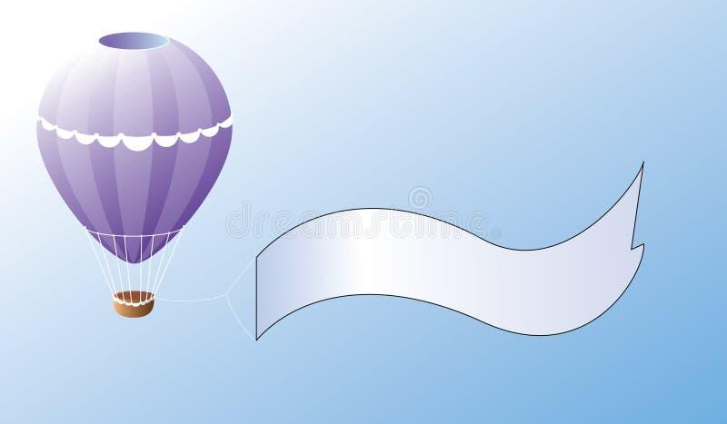 Ballonförderung stock abbildung