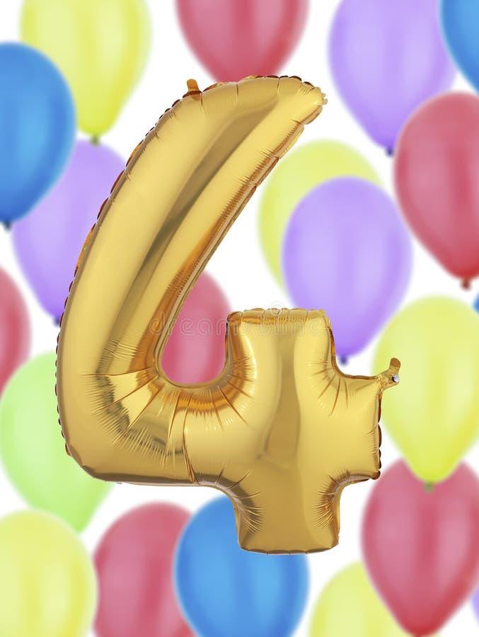 Ballong för guld- folie arkivfoto