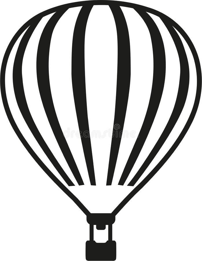 Ballong för varm luft med detaljer vektor illustrationer