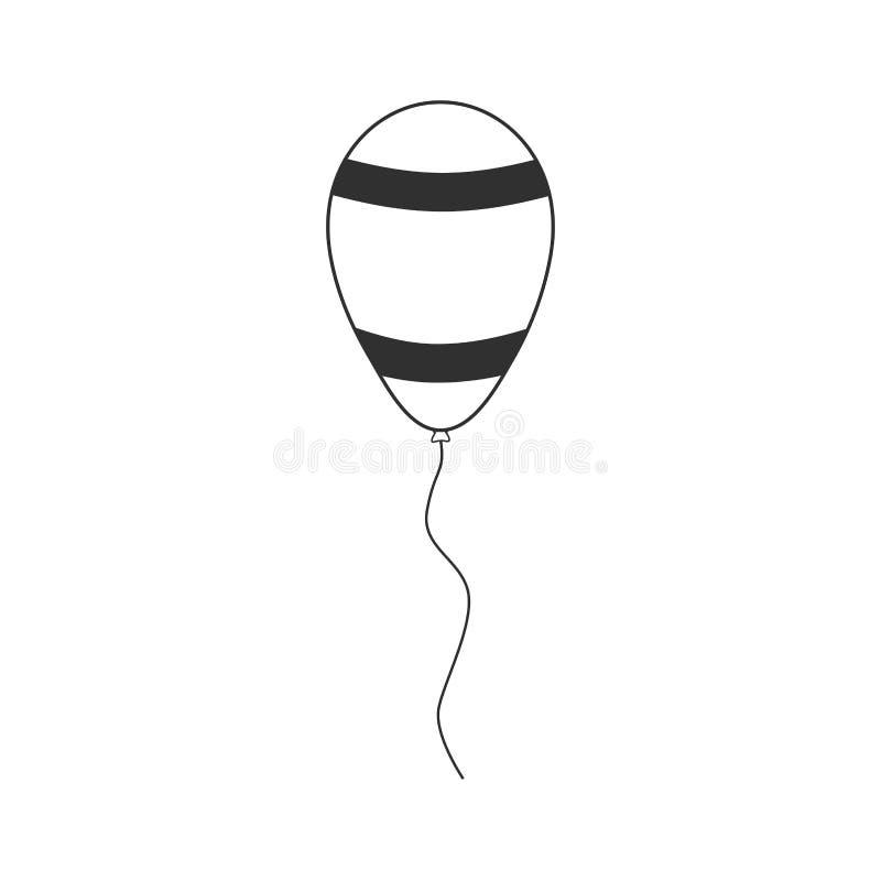 Ballong med utformade symbolen för Israel flagga den band i svartlägenhetoutli vektor illustrationer