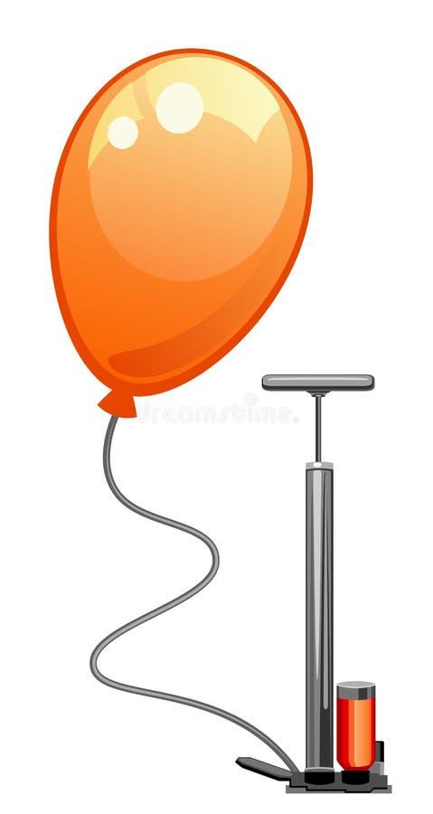 Ballong och pump stock illustrationer