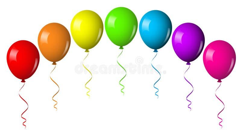 Ballongbåge vektor illustrationer