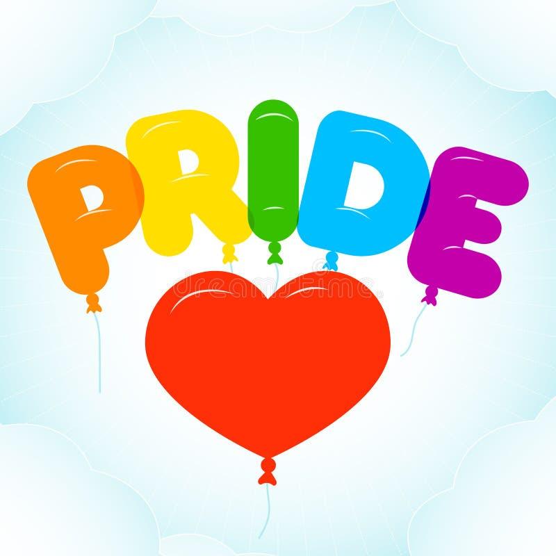 Ballongbokstäver för Pride Month royaltyfri illustrationer