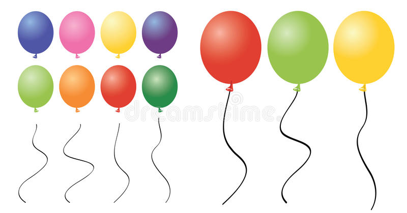 ballongclipartstycken stock illustrationer