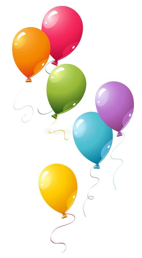 ballongdeltagare royaltyfri illustrationer