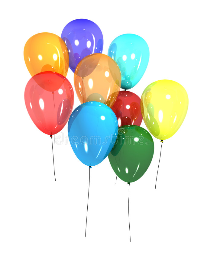 ballonger 3d vektor illustrationer