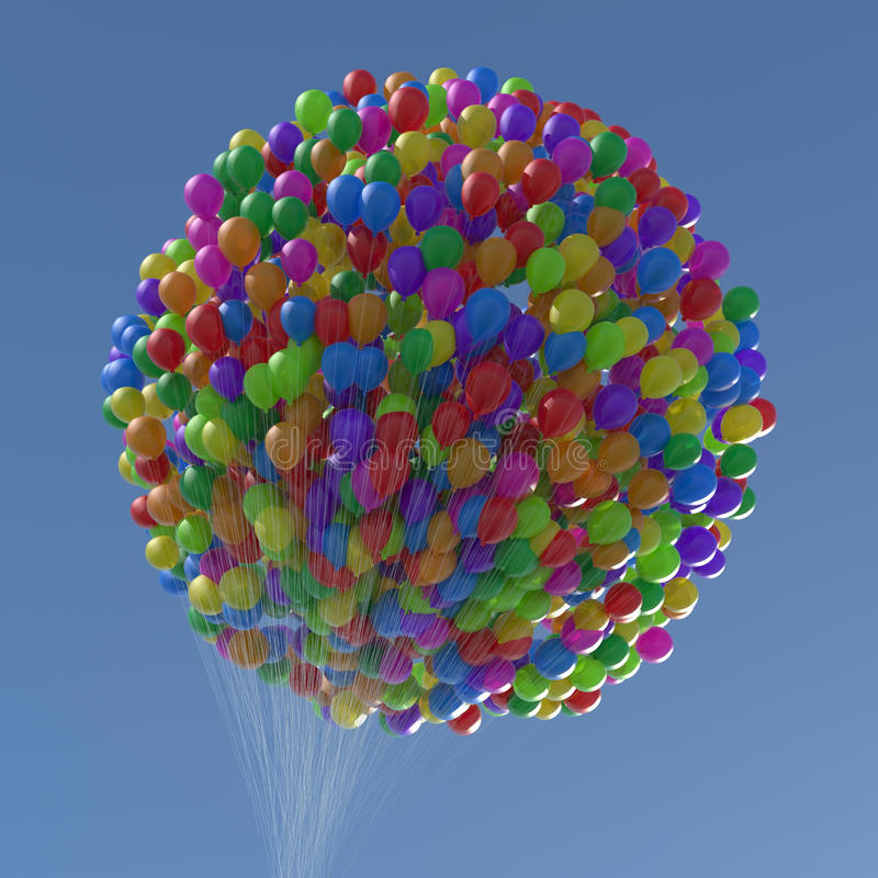 Ballonger av nummer & procentsatssymboler royaltyfria bilder