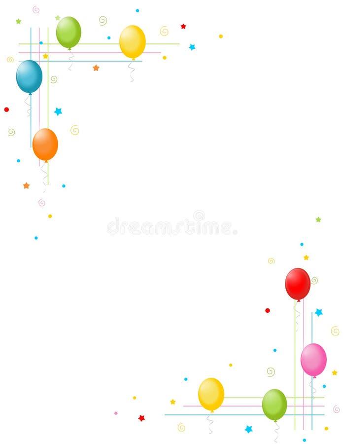 ballonger border den färgrika ramdeltagaren vektor illustrationer