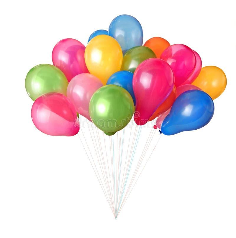 ballonger color isolerat royaltyfri bild