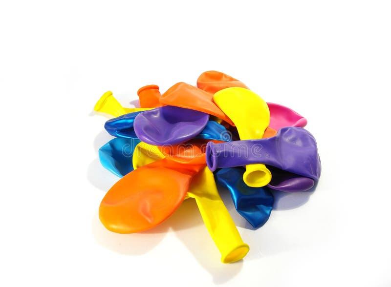 ballonger färgade mång- arkivbild