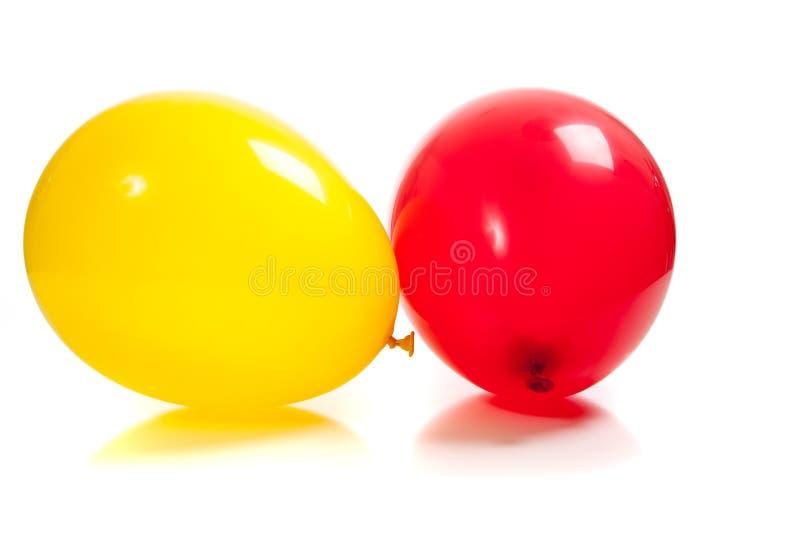 ballonger färgade mång- white royaltyfria bilder