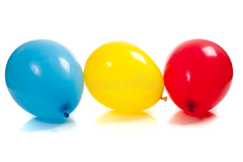ballonger färgade mång- white royaltyfria foton