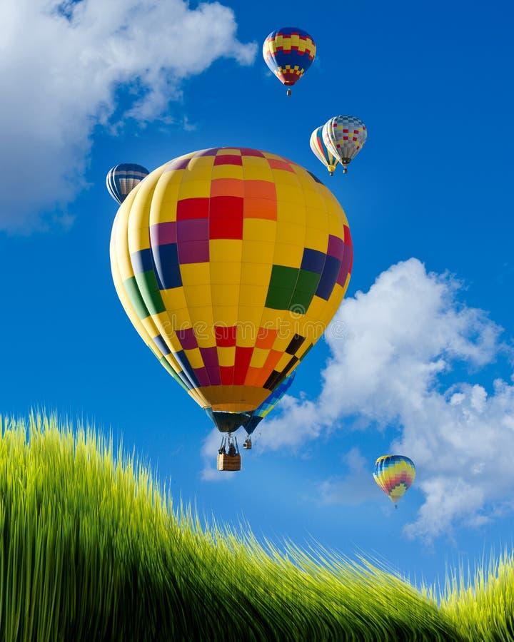 Ballonger för varm luft. royaltyfri foto