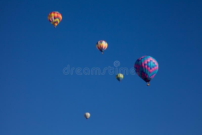 Ballonger för varm luft på den Dawn At The Albuquerque Balloon fiestaen royaltyfria foton