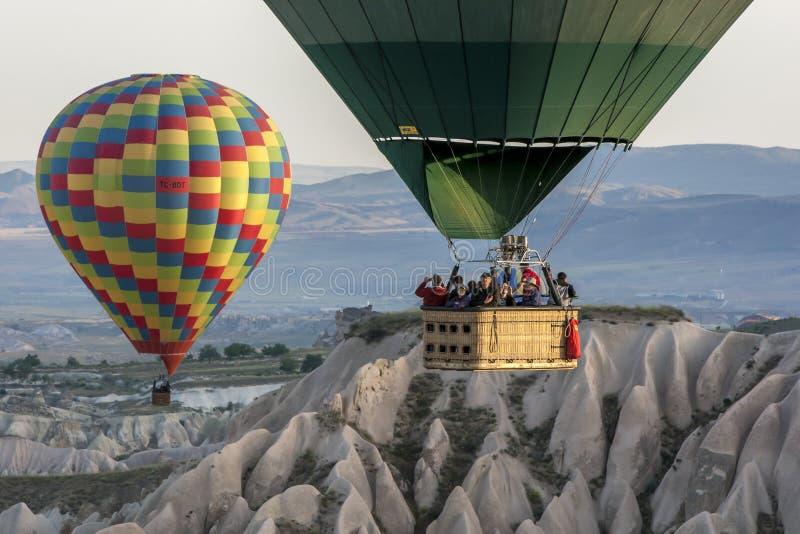 Ballonger f?r varm luft i Turkiet fotografering för bildbyråer