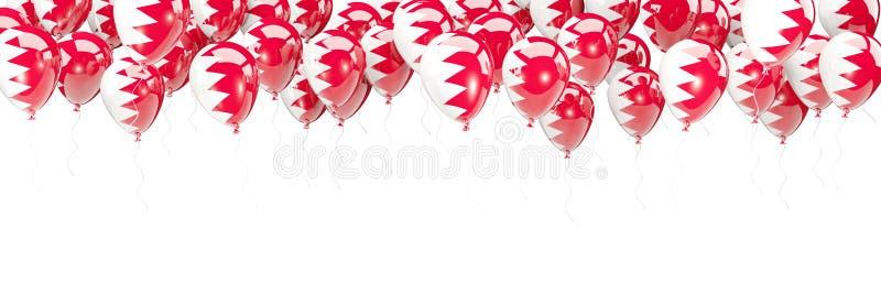 Ballonger inramar med flaggan av Bahrain vektor illustrationer