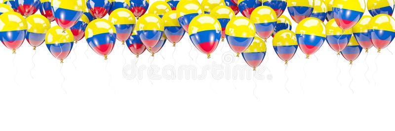 Ballonger inramar med flaggan av Colombia vektor illustrationer