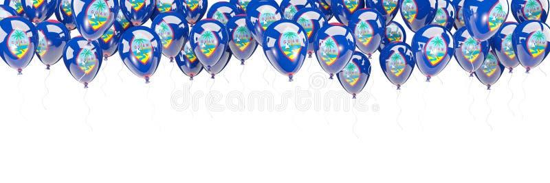 Ballonger inramar med flaggan av Guam stock illustrationer