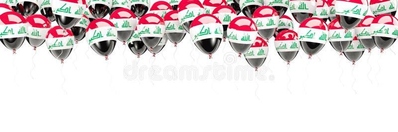 Ballonger inramar med flaggan av Irak stock illustrationer