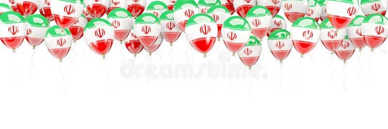Ballonger inramar med flaggan av Iran stock illustrationer