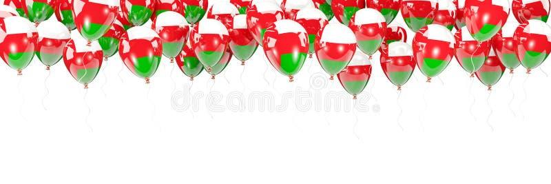 Ballonger inramar med flaggan av Oman vektor illustrationer