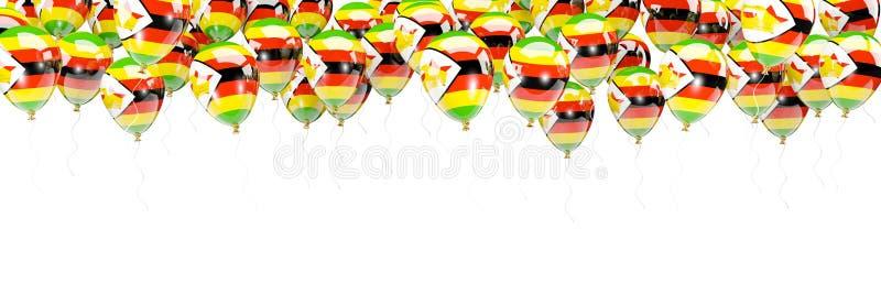 Ballonger inramar med flaggan av Zimbabwe stock illustrationer