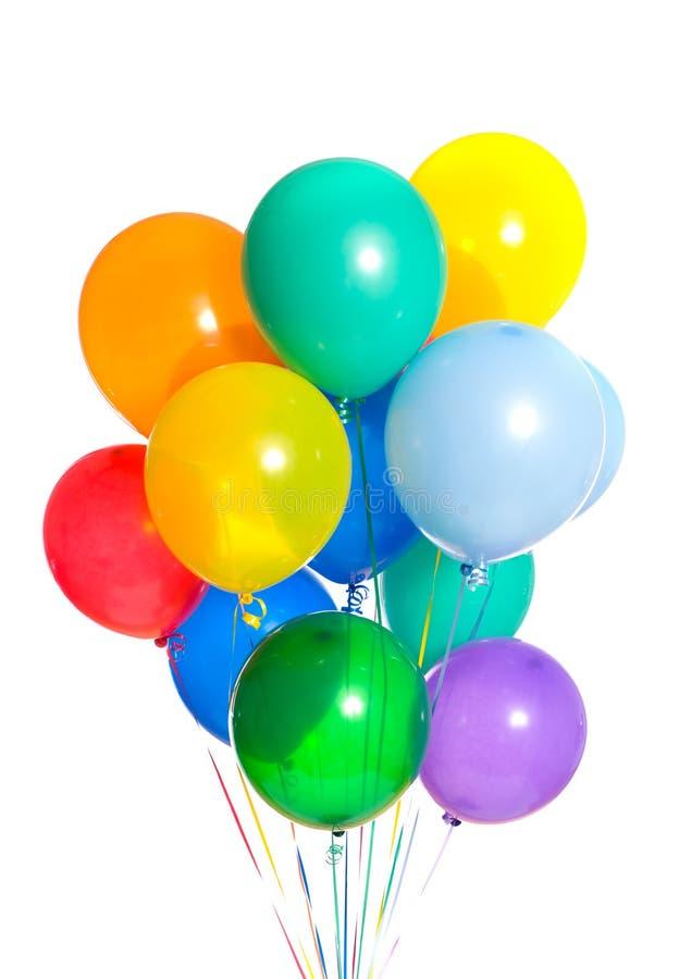 ballonger party white fotografering för bildbyråer